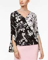 Thalia Sodi Printed Surplice Top, Created for Macy's