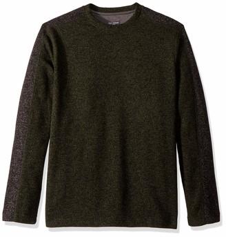 Van Heusen Men's Slim Fit Never Tuck Colorblock Crewneck Pullover Sweater