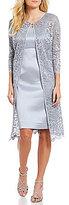 Jessica Howard Glitter Lace 2-Piece Jacket Dress