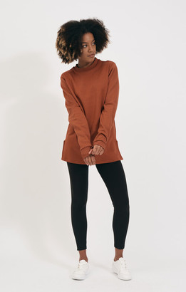Shio Rust Long Pullover - S/M | cotton | rust - Rust