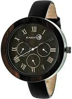 Earth Wood Brush Analog Quartz Watch, 40mm