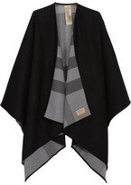 Burberry London Reversible Checked Merino Wool Wrap - Charcoal