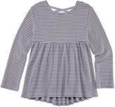Arizona Long Sleeve Cross-Back Stripe Top - Preschool Girls