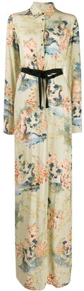 A.F.Vandevorst Floral-Print Maxi Shirt Dress
