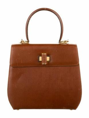 Salvatore Ferragamo Leather Satchel Bag Brown