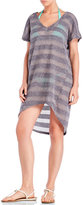 Jordan Taylor Striped Hi-Low Cover-Up