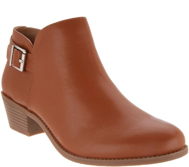 Ankle Boots Cognac Buckle - ShopStyle