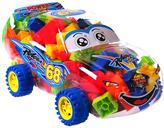 100-Piece Building Block Car Carrying Case Set