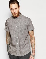 Paul Smith Ps By Jeans Short Sleeve Shirt With Scribble Print In Regular Fit