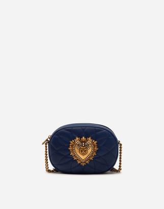 Dolce & Gabbana Devotion Camera Bag In Quilted Nappa Leather