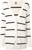 Eleventy striped cardigan - women - Cotton/Polyamide - L