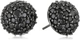 MCL by Matthew Campbell Laurenza Medium Pave Half Ball with Stud Earrings