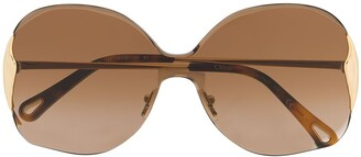 Chloé Curtis oversized sunglasses