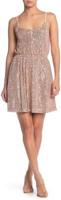 MelloDay Sequined Button Top Dress