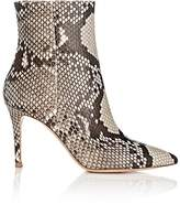 Gianvito Rossi Women's Pointed-Toe Python Ankle Boots