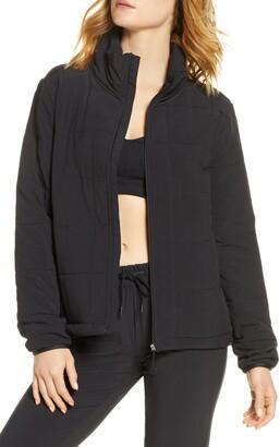 Zella Getaway Quilted Front Zip Jacket