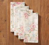Pottery Barn Vintage Floral Napkin, Set of 4