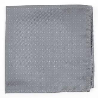 Tie Bar Flicker Silver Pocket Square