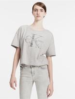 Calvin Klein Jeans Iridescent Logo Cropped T-Shirt