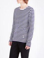 Burberry Striped cotton-jersey top