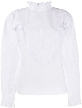 Philosophy di Lorenzo Serafini Cotton Embroidered Long Sleeve Shirt