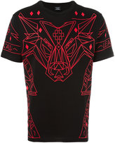 Marcelo Burlon County of Milan geometric wolf print T-shirt - men - Cotton - XS