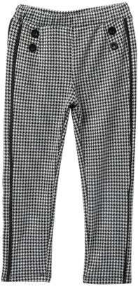 Flapdoodles Houndstooth Stretch Pants (Little Girls)