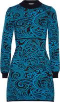Mary Katrantzou Lilla paisley-intarsia stretch-knit mini dress