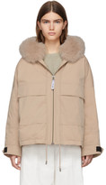 Yves Salomon Army Army Pink Down and Fur Bachette Jacket