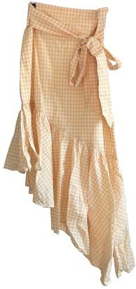 LPA \N Yellow Cotton Skirt for Women