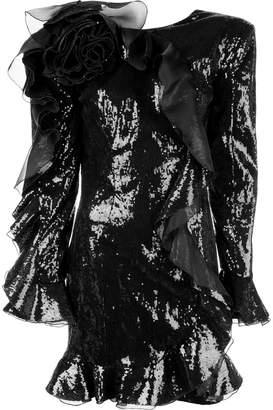 Dundas sequinned ruffled dress