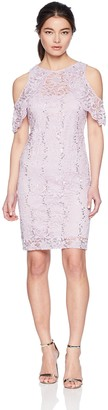 Tiana B T I A N A B. Women's Petite Sequin lace Cold Shoulder Dress