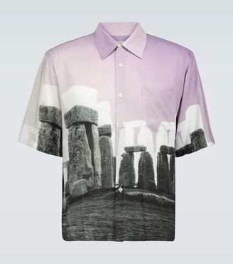 Aries Stonehenge Hawaiian shirt