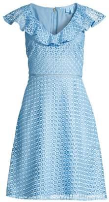 Draper James Lattice Ruffle Dress