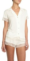 Eberjey Women's 'Malou' Lace Trim Pajamas