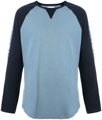 Kent & Curwen side logo stripe colour block T-shirt
