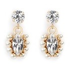 Anton Heunis Swarovski crystal pearl drop earrings