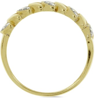 Love Diamond 9ct Gold 8 Point Diamond Vine Ring