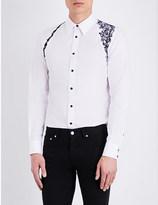 Alexander McQueen Embroidered-detail regular-fit cotton shirt