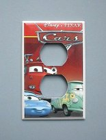Disney Cars Lightening McQueen Mater OUTLET switch plate #4