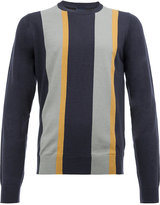 Lanvin striped print jumper - men - Cotton/Merino - S