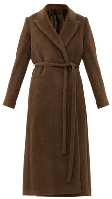 Totême Double-breasted Belted Alpaca Coat - Brown