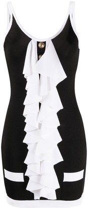 Balmain Ruffle-Detail Mini Dress