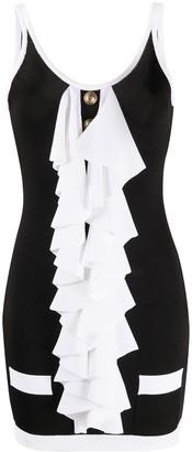 Balmain Ruffle-Detail Mini Dress