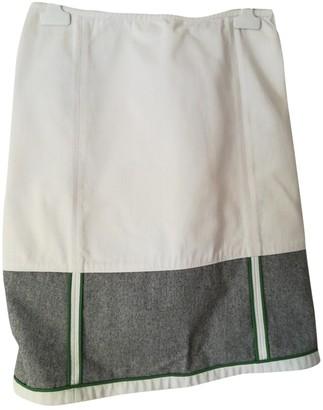 Miu Miu White Cotton Skirt for Women Vintage