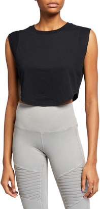 Alo Yoga Echo Cropped Sleeveless Tee