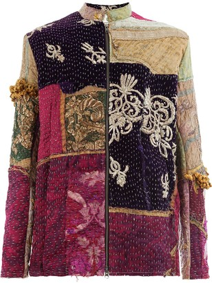 By Walid Embroidered Patchwork Jacket