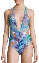 Etro Hawaiian Paisley One-Piece Swimsuit
