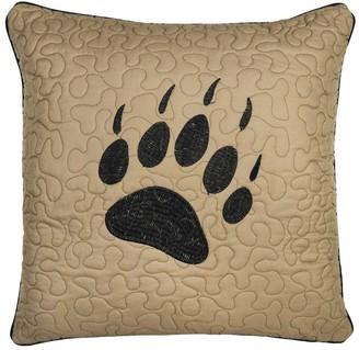 Donna Sharp Bear Walk Plaid UCC Paw Decorative Pillow