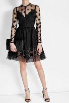 Elie Saab Embroidered Mini Dress with Cotton